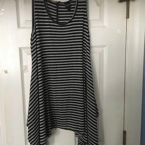 Cute shark bite Navy/White striped dress/coverup